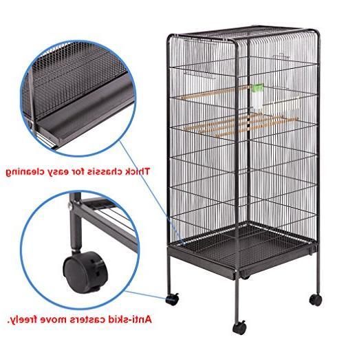 BestPet Cage Flight Cage Parrot Birdcage Chinchilla Cockatiel Heavy Aviary