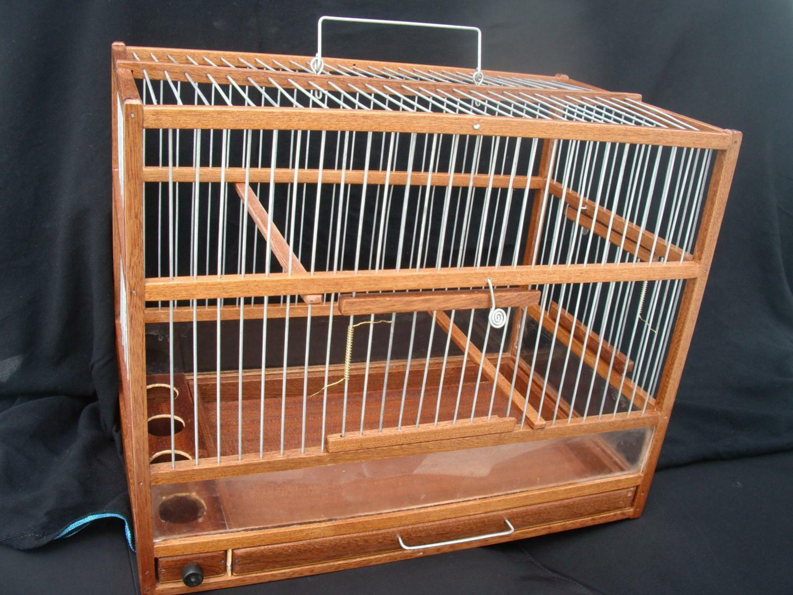 Wooden Bird Cage // Hand Crafted Bird Cage // Slide Out Tray