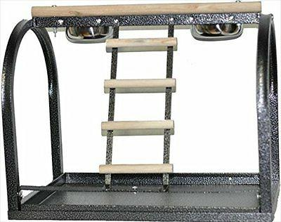 ANEC-J11WHITE-A&E Cages 21x14x18 Bird Table Stand with Ladde