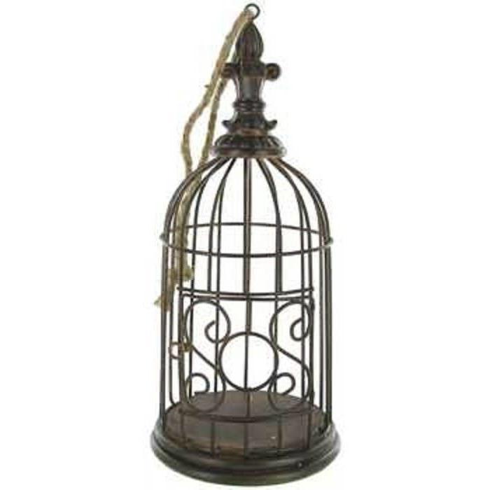 antique brown metal vintage decorative bird cage