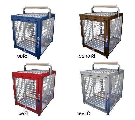 ATT 1214 ALUMINUM PARROT Bird Cage pet Travel Carrier toy to