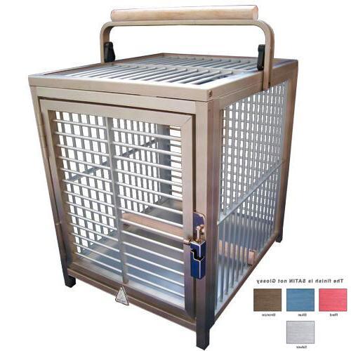 ATT 1214 ALUMINUM PARROT Bird Cage Travel Carrier toys crate