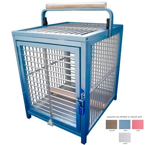 ATT 1214 ALUMINUM PARROT Bird Cage Carrier crate