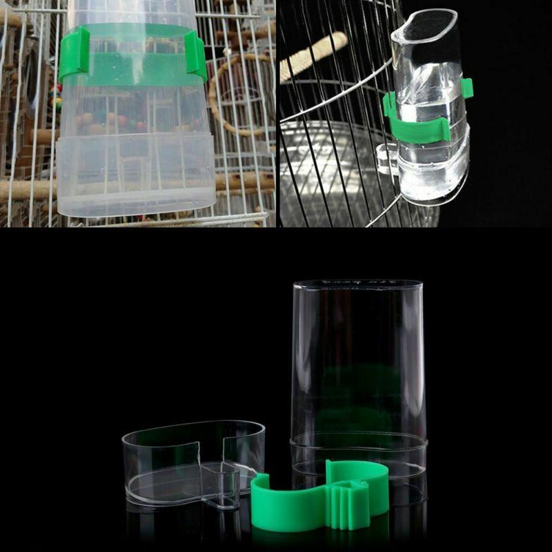 Automatic Bird Feeder Bird Cage Water Drinker For Finch Cana