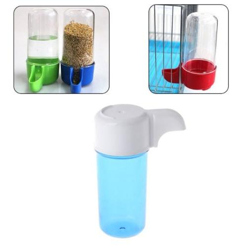 automatic bird plastic feeder food water storage