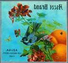 Azusa Ascot BlueBird Bird and Flowers Orange Citrus Fruit Cr