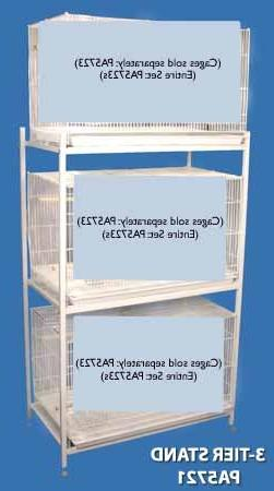 Bali Bungalow Stand Stacking Bird Cage Stand - White - Two T