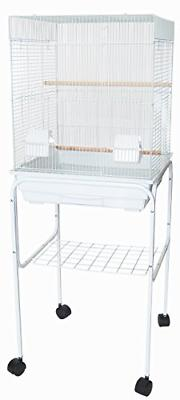 """YML 5824 3/8"""" Bar Spacing Square Top Bird Cage with Stand, 1"""