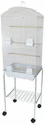 "YML 6804 3/8"" Bar Spacing Tall Shall Top Bird Cage with Stan"