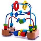 Bead Activity Centers Maze Activity Cube Wooden Toy For Babi
