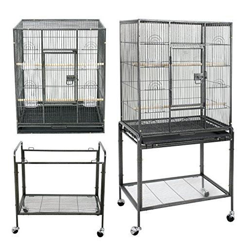 ZENY Cage with Stand Wrought Construction 53-Inch Cage Play Cockatoo