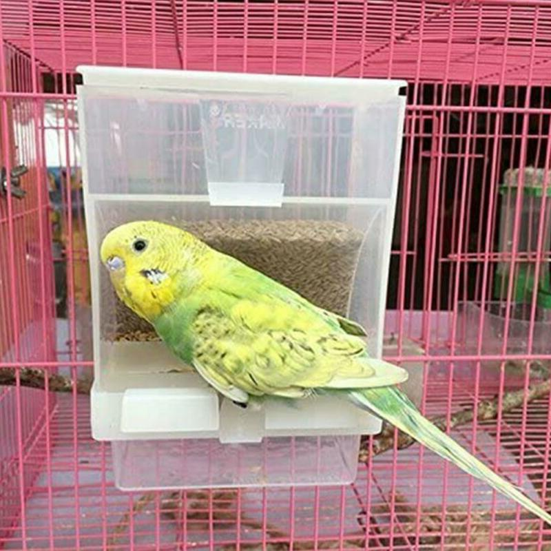 pet bird cages auto food seed dispenser