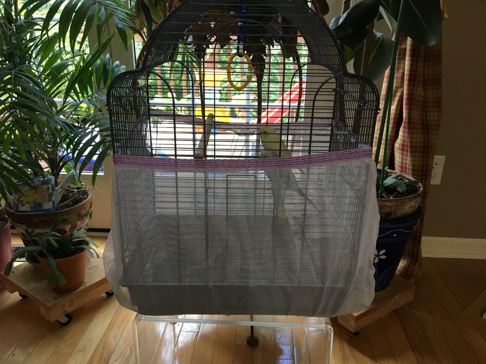 "Bird Cage Catcher Mesh Tulle Cir Max 88"" Circumference"