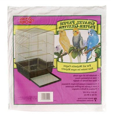 """Hagen Bird Cage GRAVEL PAPER 12"""" x"""