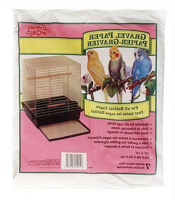 "Hagen Living World Bird Cage GRAVEL PAPER  12"" x 14"""
