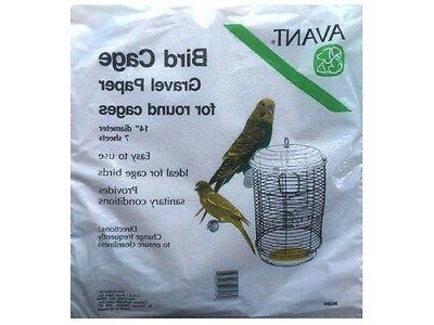 bird cage gravel paper round