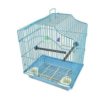 bird cage kit blue starter set perches