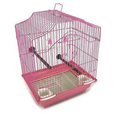 bird cage kit pink starter set perches
