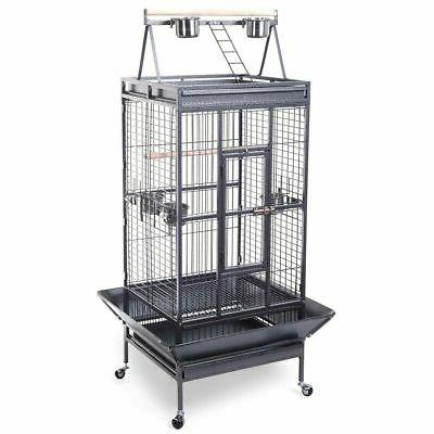 bird cage large play top parrot finch