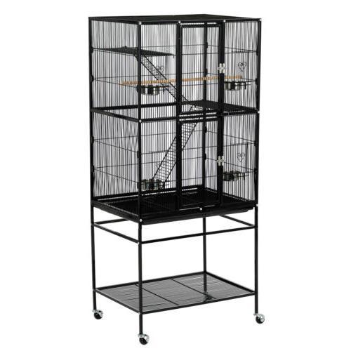 Cage Wooden Parrot Cockatiel 2 Ladders