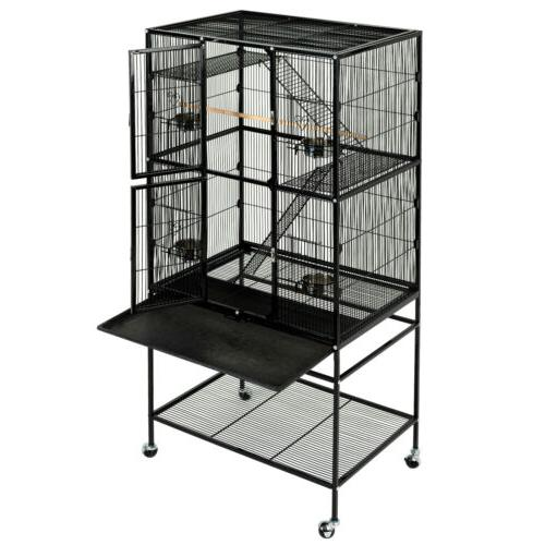 """63"""" Large Bird Cage Wooden Bridge Parrot with Ladders"""