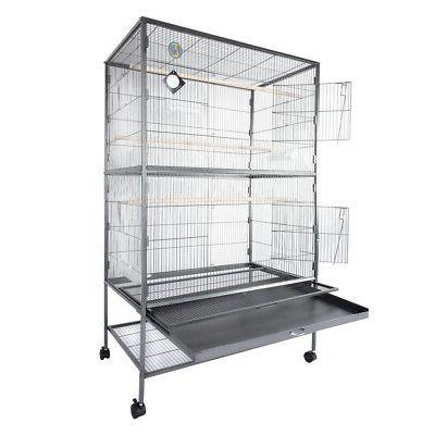 "60"" Bird Cage Parrot Finch Canary Supplies Grate"