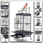 Large Bird Cage Parrot House Finch Cockatiel Macaw Play Pet