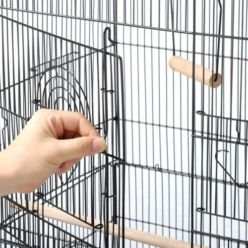 """62.2"""" Bird Cage Parrot Play Metal Stand w/ Wheel"""