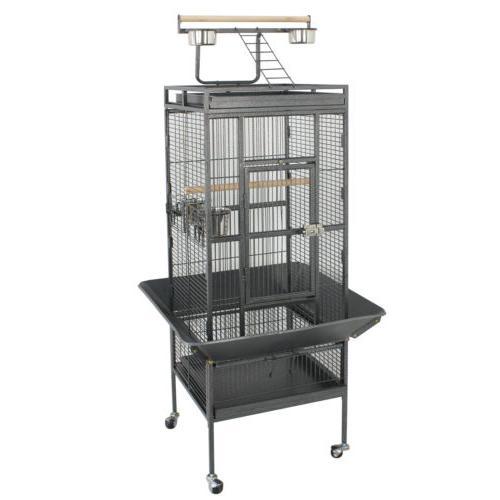 "61"" Large Bird Cage Pet Play Parrot Parakeet Bird Finch w/ Perch Stand"
