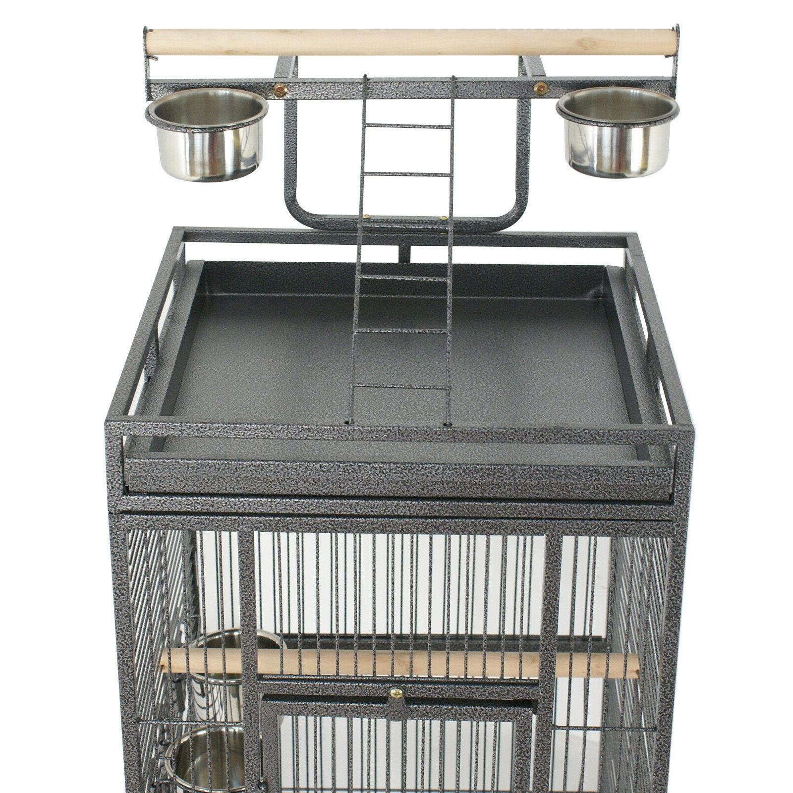 """61"""" Large Cage Large Play Top Finch Cage Supplies Removable"""