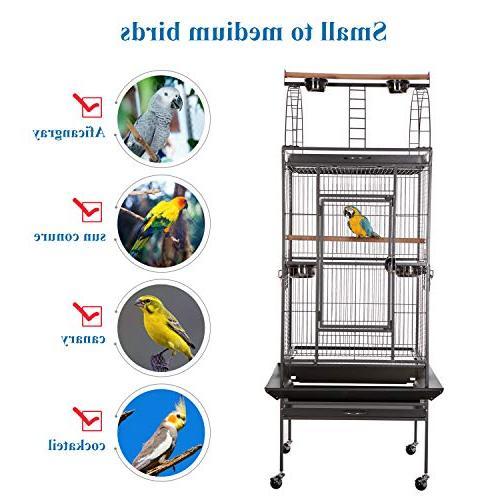 VECELA Bird Cage Top Parrot Inch Bird Birdcage Pet House