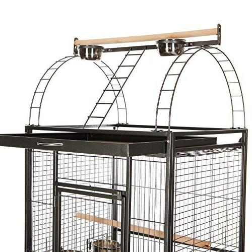 VECELA Bird Top Parrot Cage Inch with Birdcage Parrot Large Pet