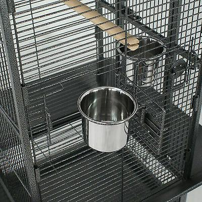"61"" Large Bird Cage Top Play Power Coated House EZ USE"