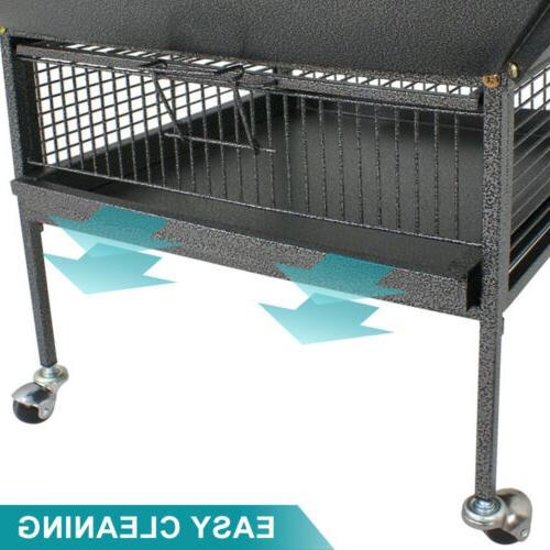 """61"""" Bird Pet Play Parakeet Bird Finch Perch Stand Steel"""
