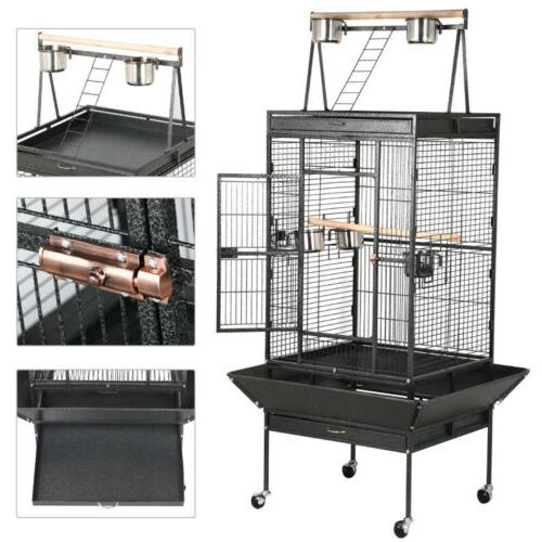 "68"" Bird Large Play Top Parrot Finch Cage Cockatoo Supply"