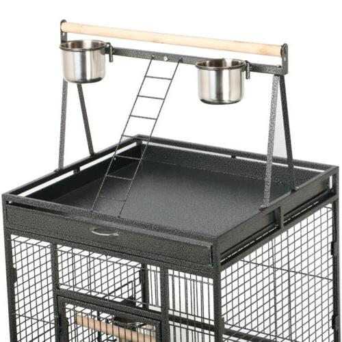 """68"""" Bird Cage Play Top Parrot Cage Macaw Pet Supply"""