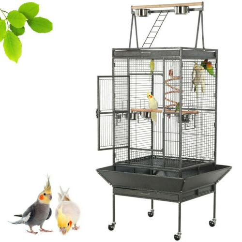 "68"" Bird Cage Large Play Top Parrot Finch Cage Macaw Cockato"