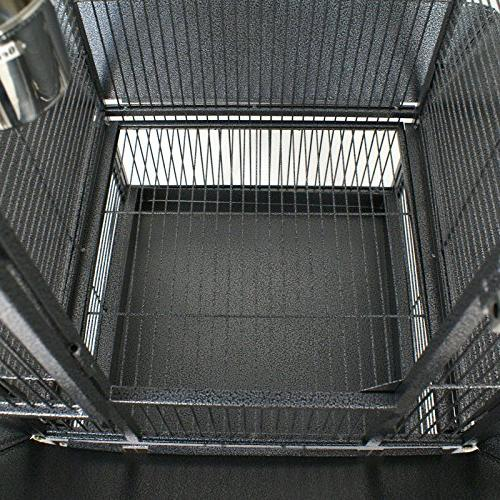 SUPER DEAL Play & Stand Parrot Cage Pet Wrought