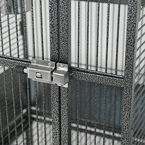 SUPER PRO Large Cage Play Top & Stand - Chinchilla Cage Macaw Pet House, Wrought Iron