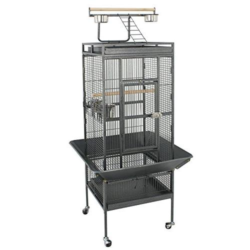 SUPER Large Bird Play Top Stand Cage Macaw Cockatoo Pet 61 Wrought Iron
