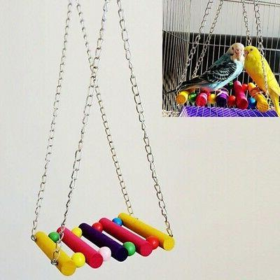 Pet Bird Cage Swing Hammock Hanging Toy Supplies Accessories