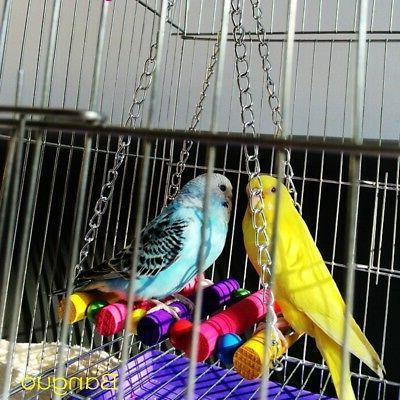 Pet Bird Cage Swing Hammock Hanging Toy Supplies Accessories
