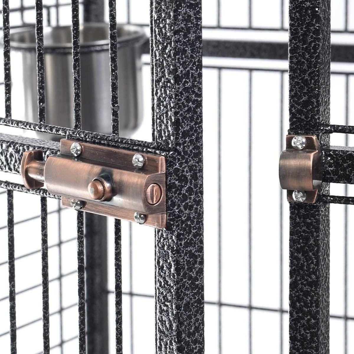 Giantex Bird Cage w/ Ladder Play Top Strong Iron Cockatoo Finch