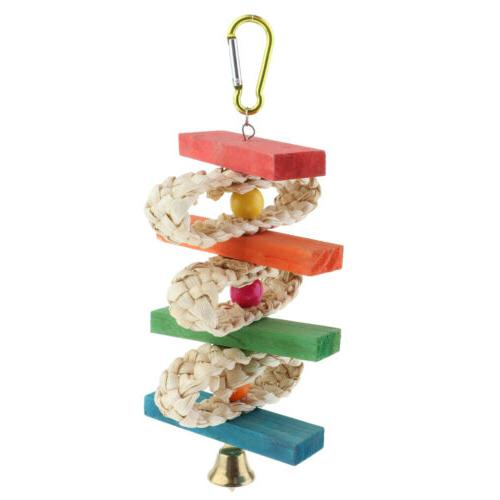 Bird Cage Wooden Ladder Large Medium Parrot Cage Stand Toy f