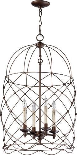 Cyan Design Bird Cages Oiled Bronze Adele Foyer Light NEW