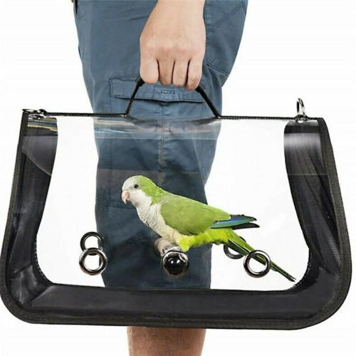 Bird Carrier Cage Nest Pet Parrot Travel Breathable Transpar