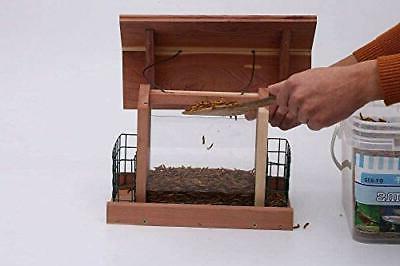 BIRD Plastic Window Holder Cages Wooden Cedar SOLUTION4PATIO