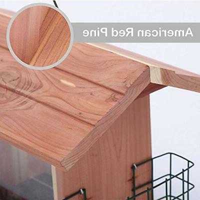 Window Suet Holder Wooden Cedar