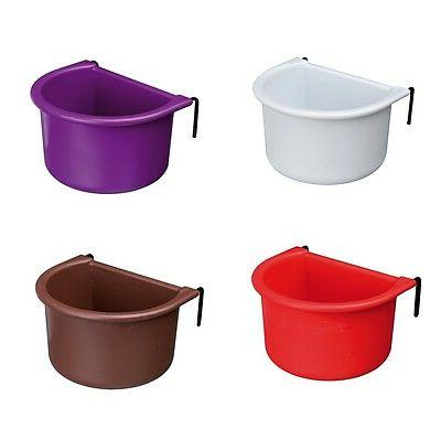 bird food water feeder hanging bowl cup