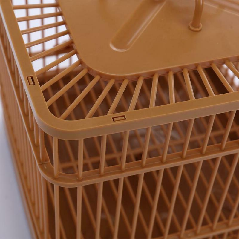 Plastic Cage Bird Feeding Cage